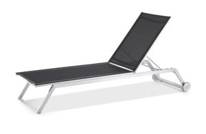 Outdoor Solution High quality Stainless Steel Beach and resort Lounge Chaise with Wheel-Item NoOS1B010