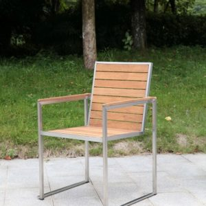 Outdoor Solution Luxury Best sale Stainless Steel Teakwood Garden Armchair-Item NoOS3C108