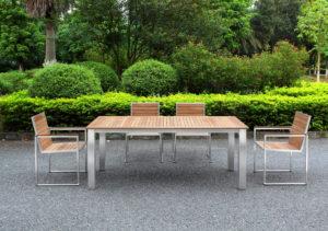 Outdoor Solution Luxury Best sale Stainless Steel Teakwood Garden Armchair-Item NoOS3C108