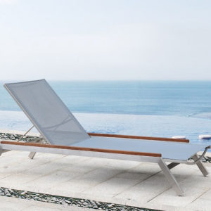 Outdoor Solution Luxury outdoor stainless steel Textile outdoor Sun Lounge -Item NoOS1B102