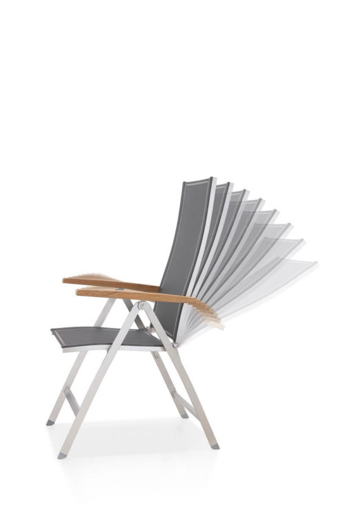 Outdoor Solution Unique Modern Design for Europe style Stainless Steel Garden Folding Chair OS8C801